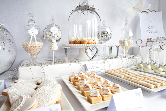 a fanciful dessert table celebrity style weddings. Black Bedroom Furniture Sets. Home Design Ideas