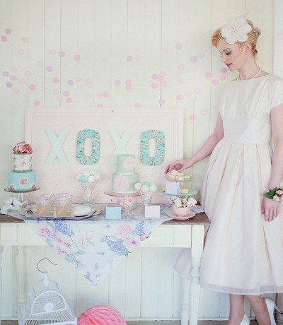 Bridal Shower Inspirations:Delightful 50s Pastels