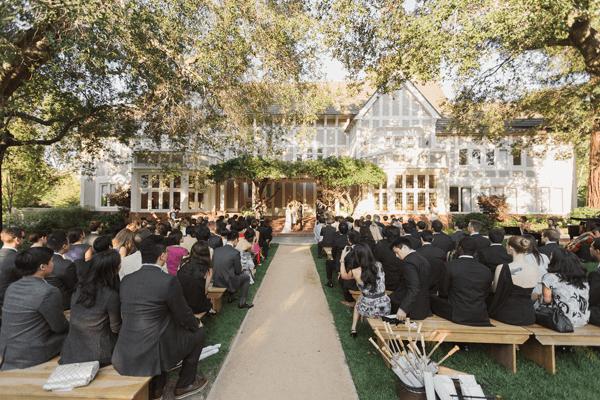 Intimate Rustic Backyard Wedding: Romantic 1920s-Era Garden Party Wedding