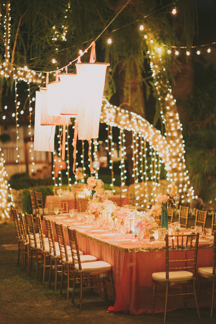 Stylish outdoor wedding reception ideas for Outdoor wedding decoration ideas