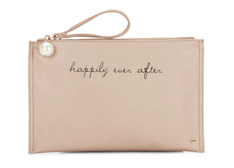 Dl Bleu Happily Ever After Zip Pouch - Rose Gold