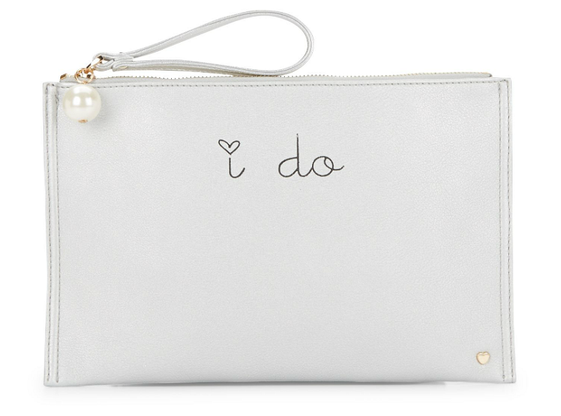 Dl Bleu I Do Zip Pouch - Silver