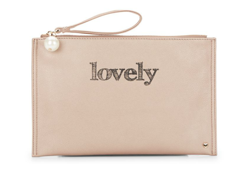 Dl Bleu Lovely Zip Pouch - Rose Gold