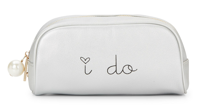 Dl Bleu Romance I Do Zip Pouch - Silver